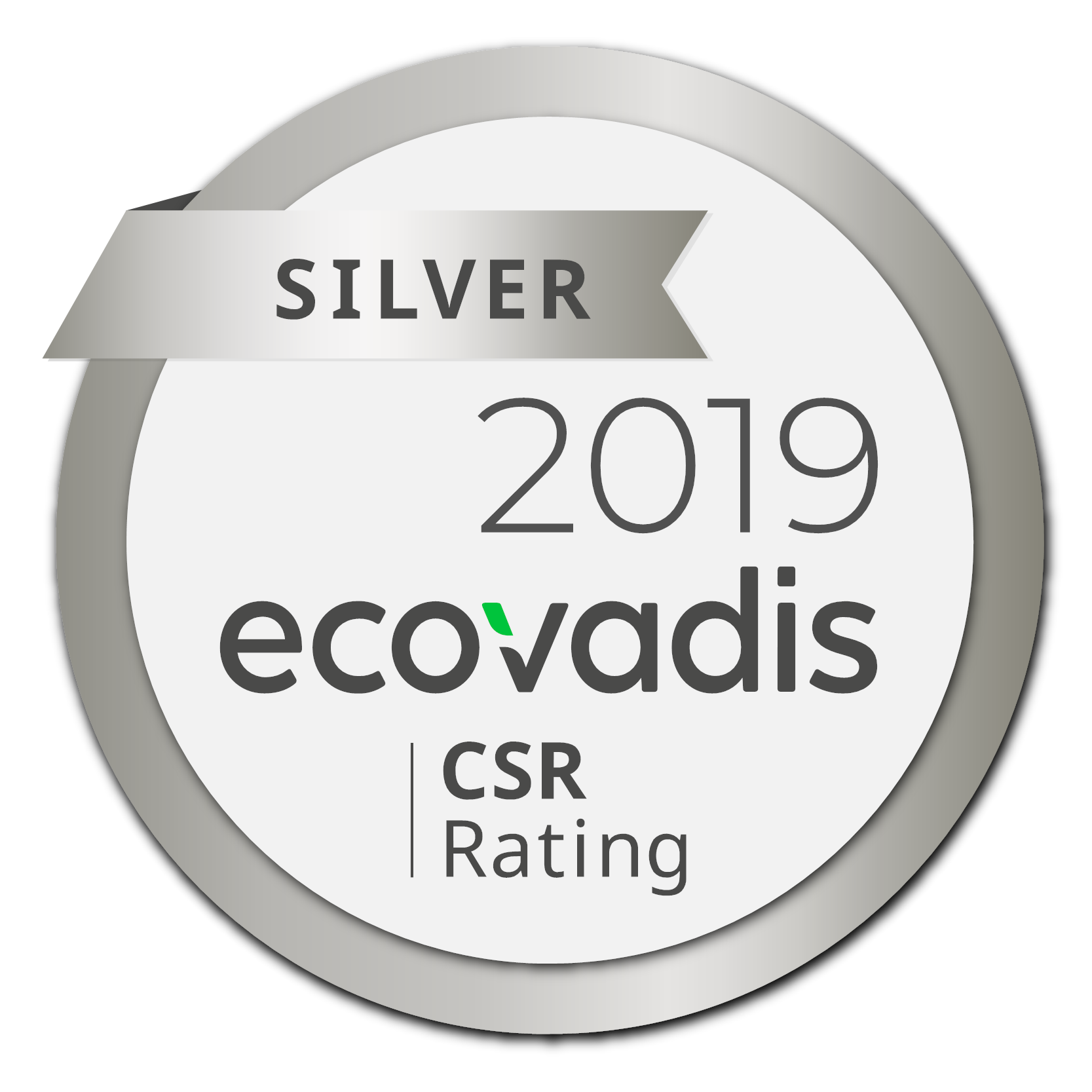Picture of the EcoVadis Silver Medal